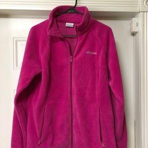 Columbia pink fleece size large women's